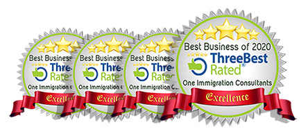 One Immigration Best Business award Logo